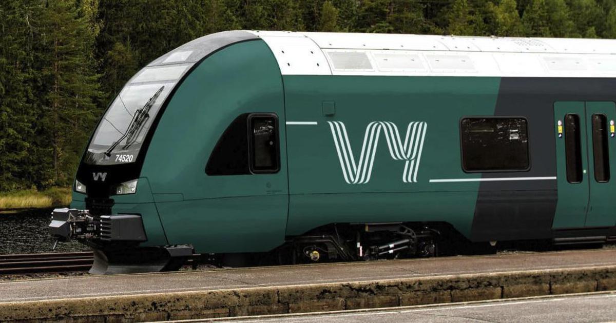 Норвежские государственная железные дороги получили новое ретро лого.
