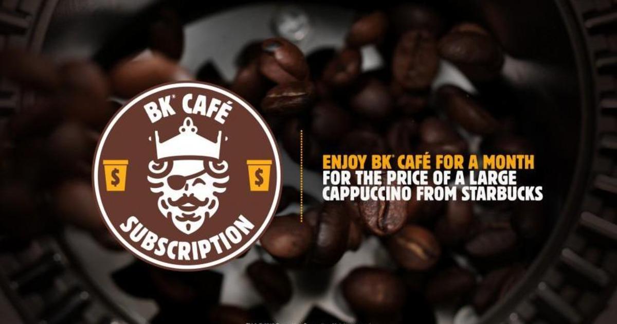 Burger King запустил подписку на кофе, раскритиковав при этом Starbucks.