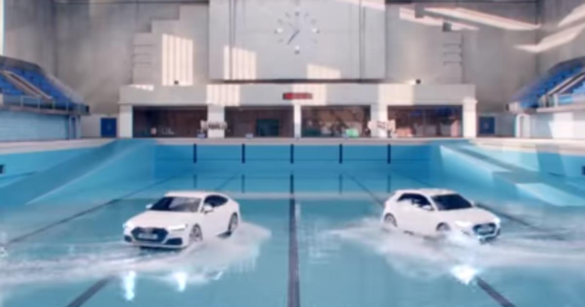 В новом видеоролике Audi машины занимаются синхронным плаванием.