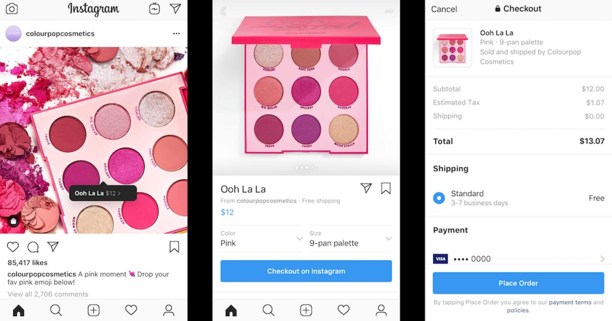 Instagram позволит брендам продавать продукты в приложении.