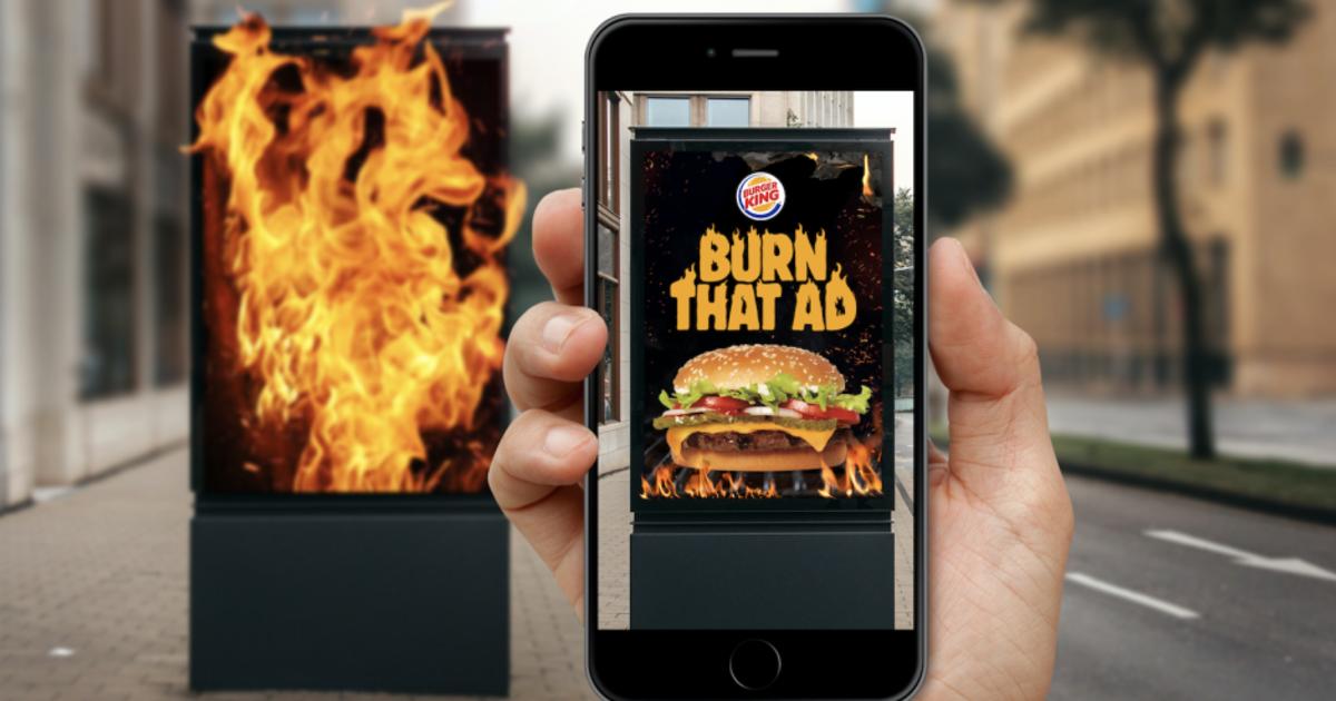 Burger King позволил «сжигать» рекламу конкурентов в обмен на Воппер.