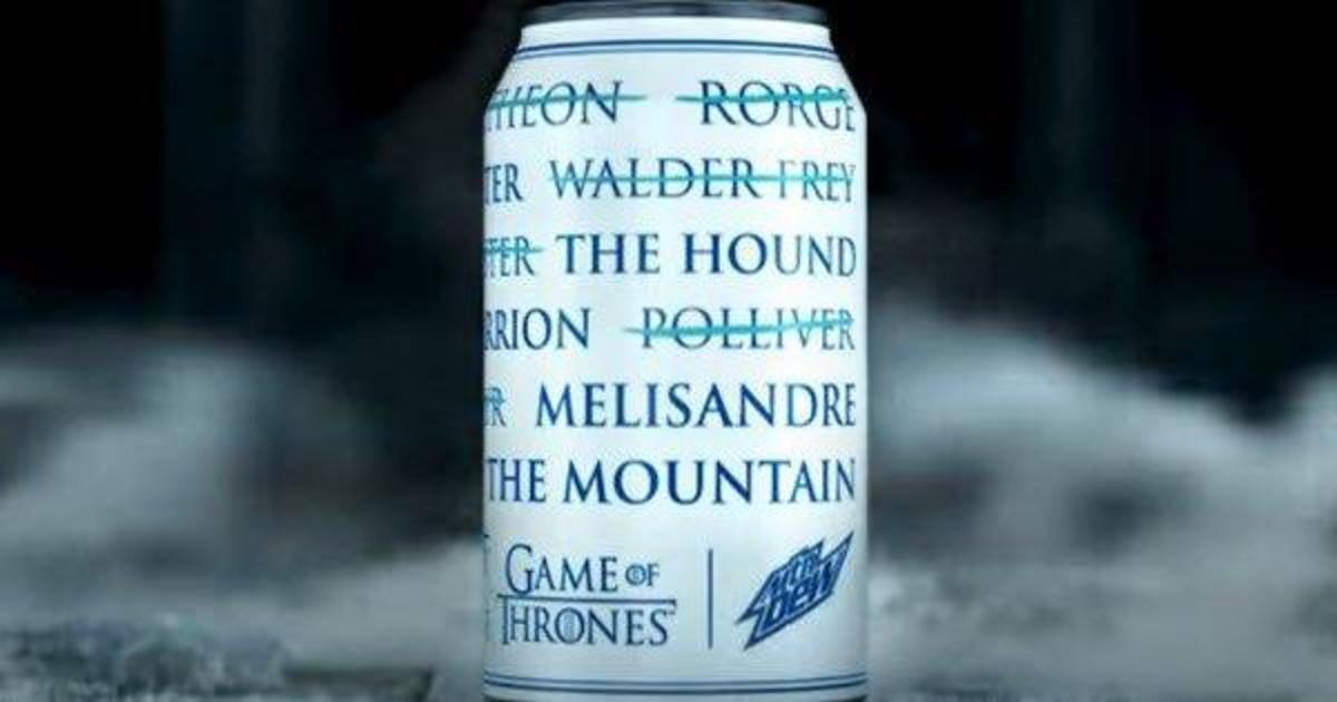 Mountain Dew выпустила банки без брендинга для фанатов «Игры престолов».