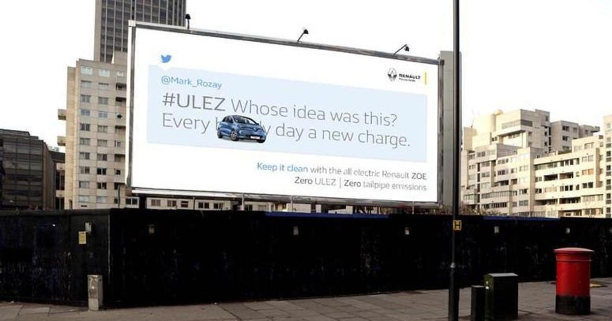 Renault «очистил» Twitter от гневных твитов с помощью электромобиля Zoe.