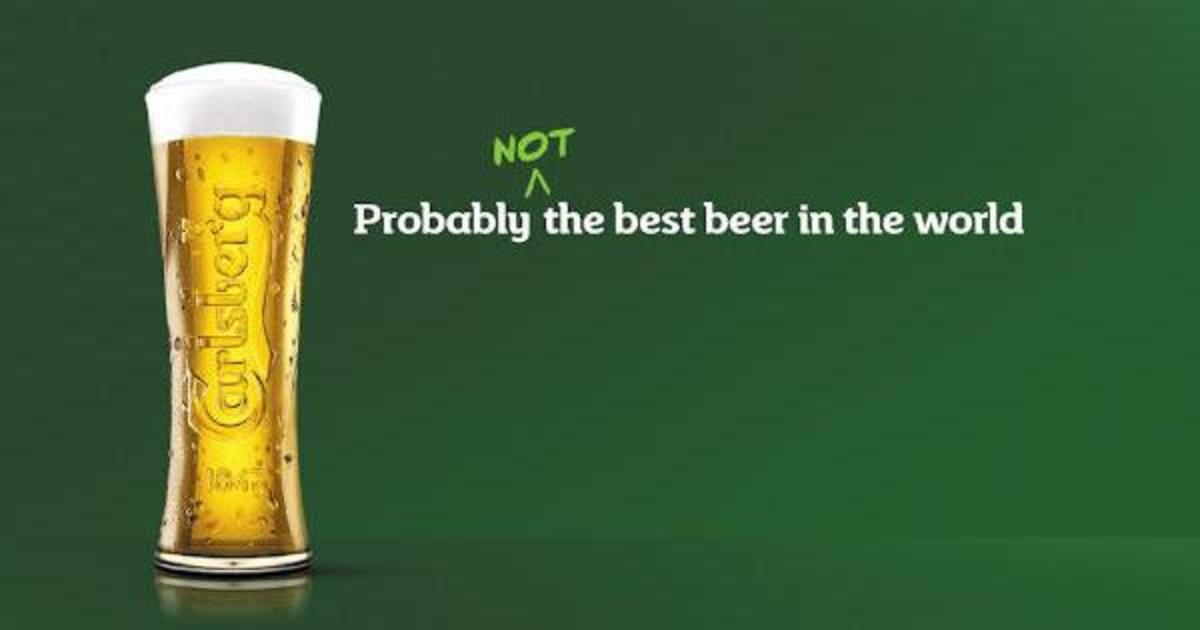 Carlsberg признал, что не производит «лучшее пиво в мире», и обновил бренд