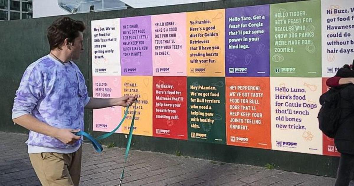 Бренд корма создал индивидуальную рекламу для каждой собаки в Нью-Йорке