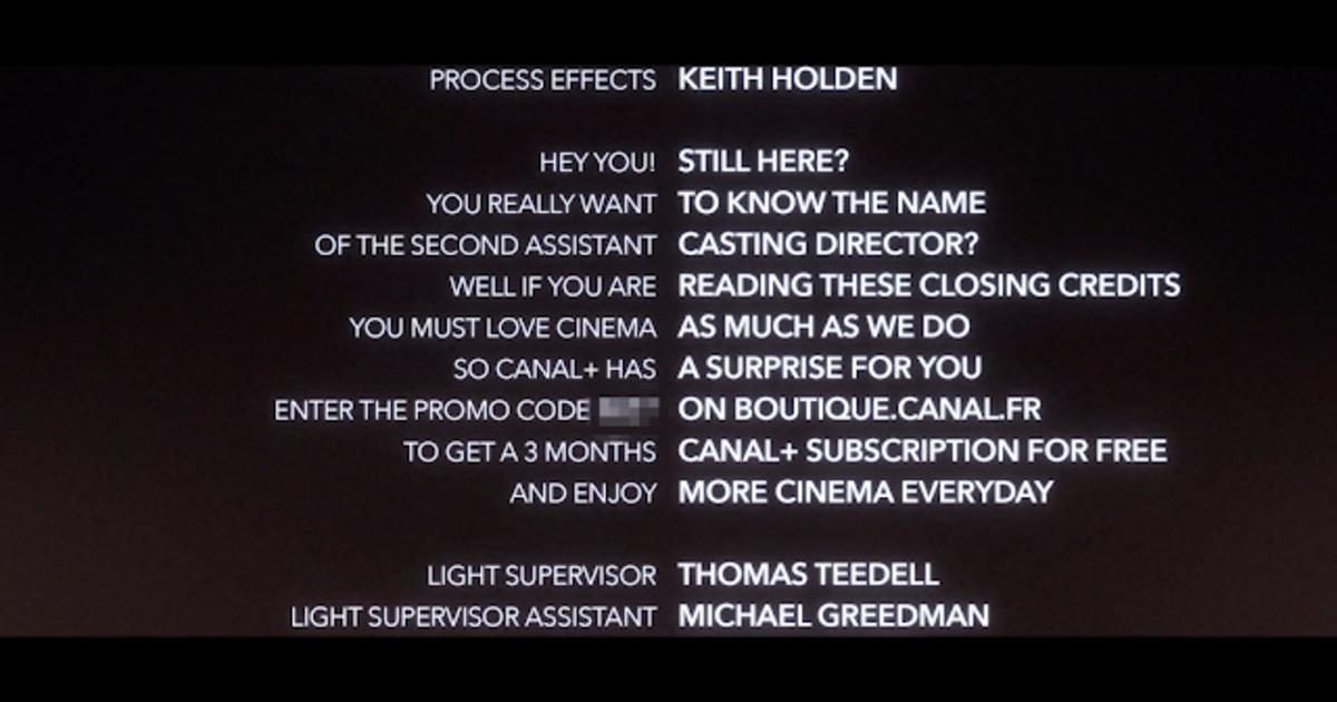 CANAL+ удивил любителей кино подарком, спрятанным в финальных титрах