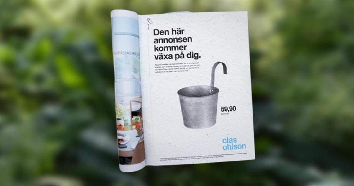 Шведская печатная реклама может стать цветком