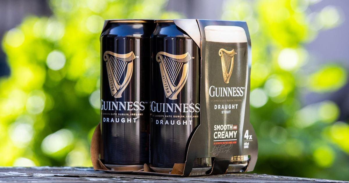 Guinness отказывается от пластиковой упаковки