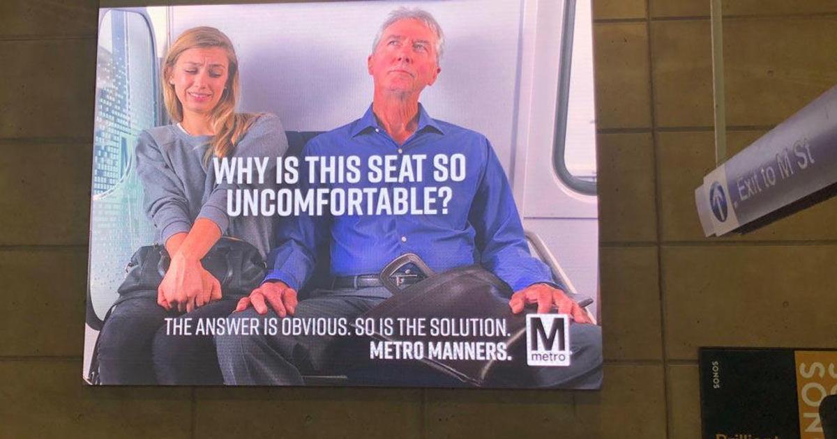 В метро Вашингтона повесили один борд о раздвигающих ноги мужчинах