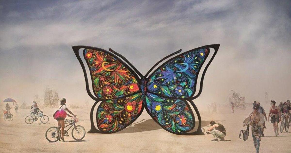 Украинцы представят трехметровую бабочку в Петриковском стиле на Burning Man 2019