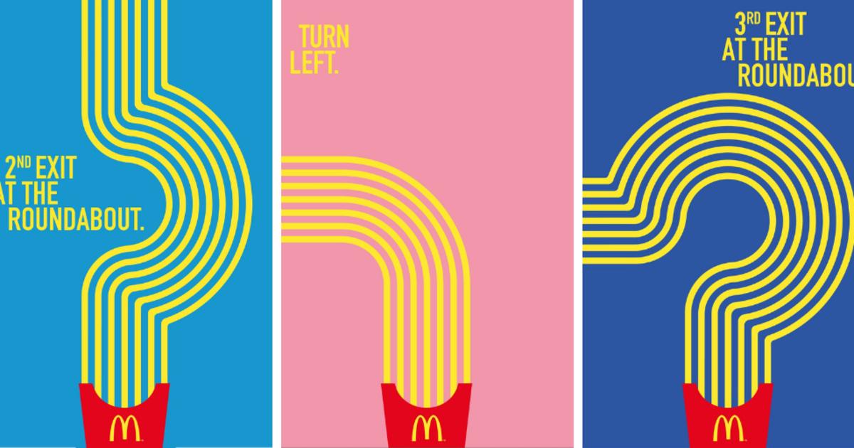 Наружная реклама McDonald's указала дорогу к ресторанам с помощью фри