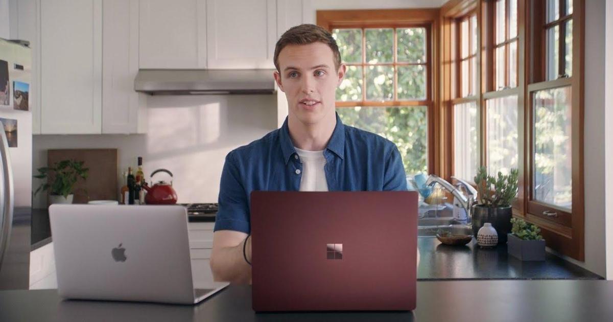 Microsoft нашел парня по имени Мак Бук, чтобы раскритиковать ноутбук Apple
