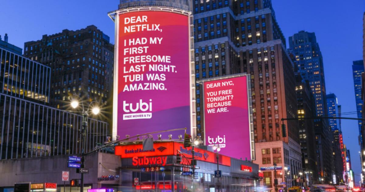 Бесплатный стриминговый сервис посмеялся над Netflix и Hulu в outdoor кампании