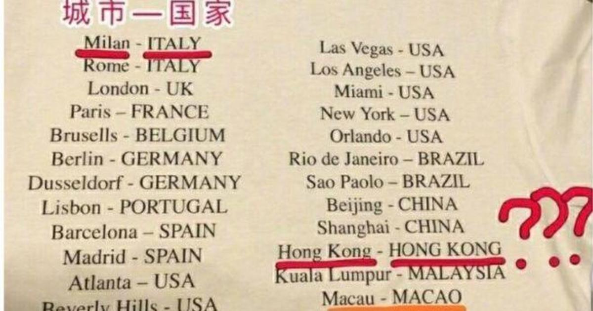 Versace выпустили футболки, которые оскорбили суверенитет Китая