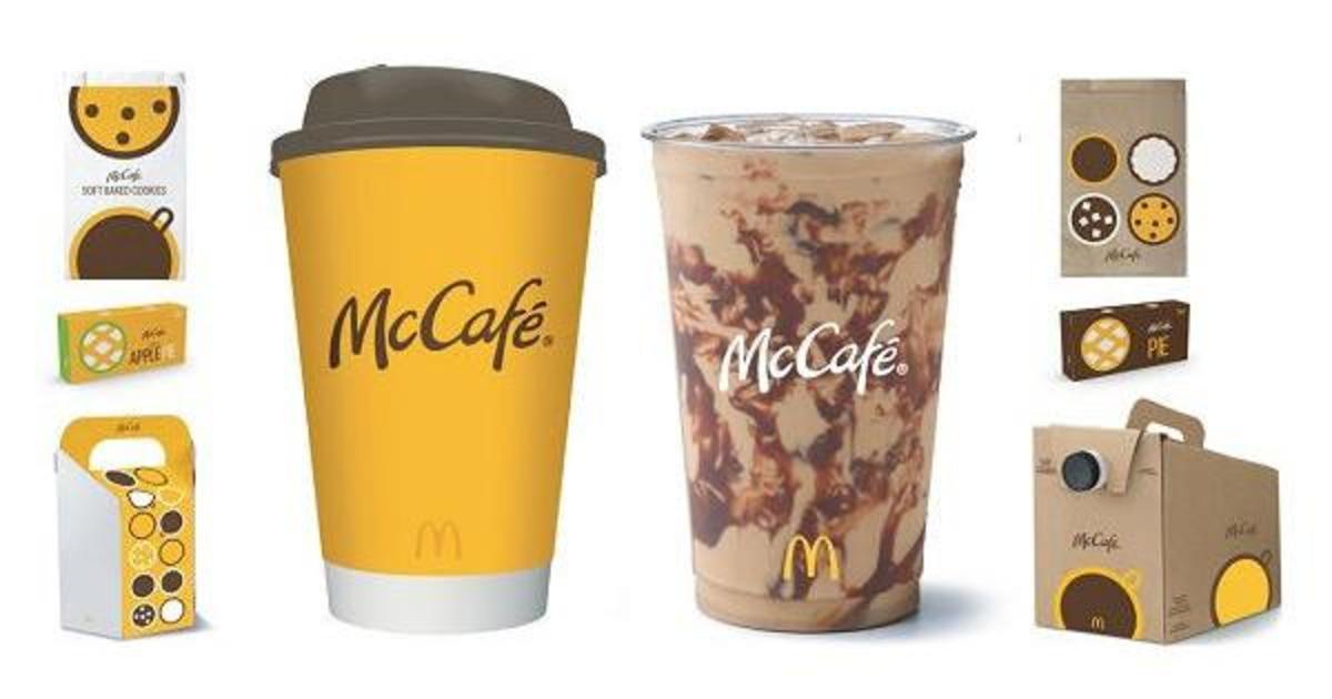McDonald's представил новый логотип и фирменный стиль McCafé