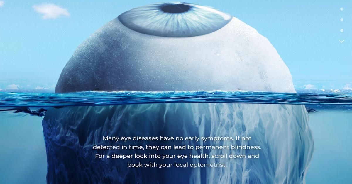 Креативная реклама рассказала о скрытых болезнях глаз