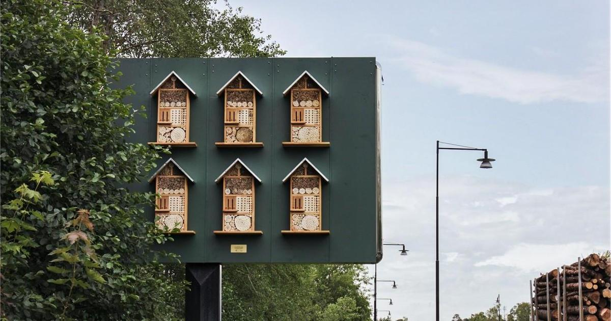 McDonald's превратил билборды в «отели» для пчел