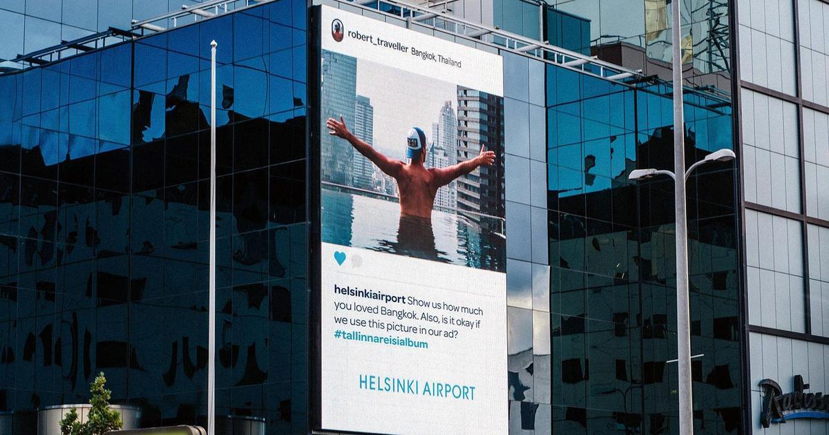 Аэропорт Хельсинки использовал фото жителей Таллина в Instagram для self-промо
