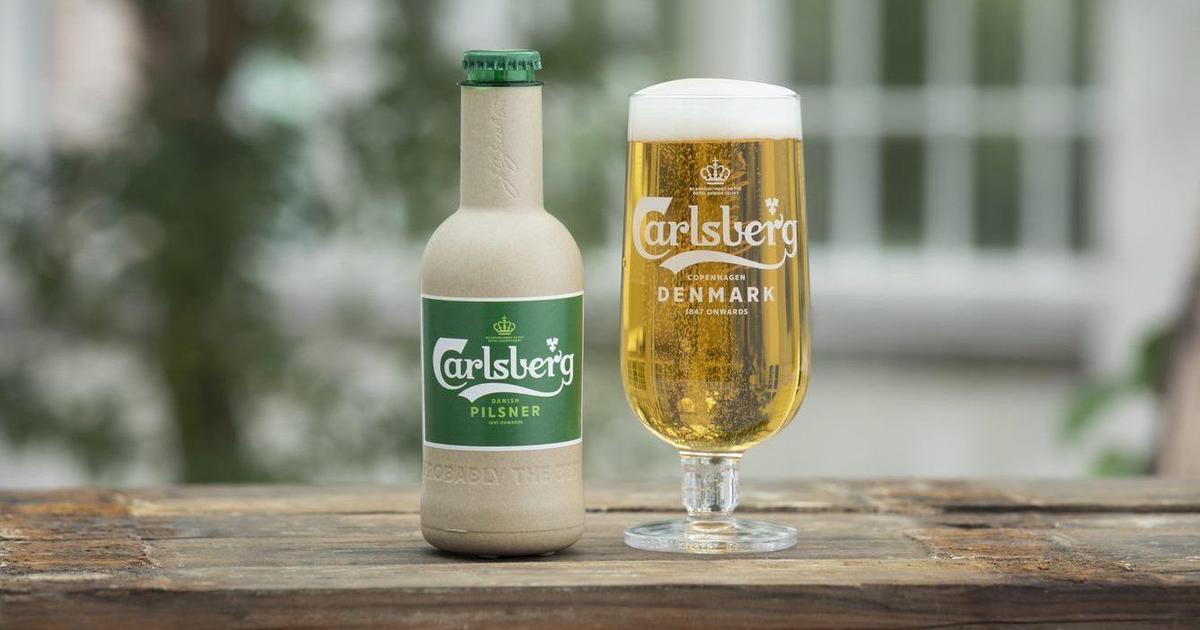 Carlsberg створює першу в світі «паперову» пивну пляшку