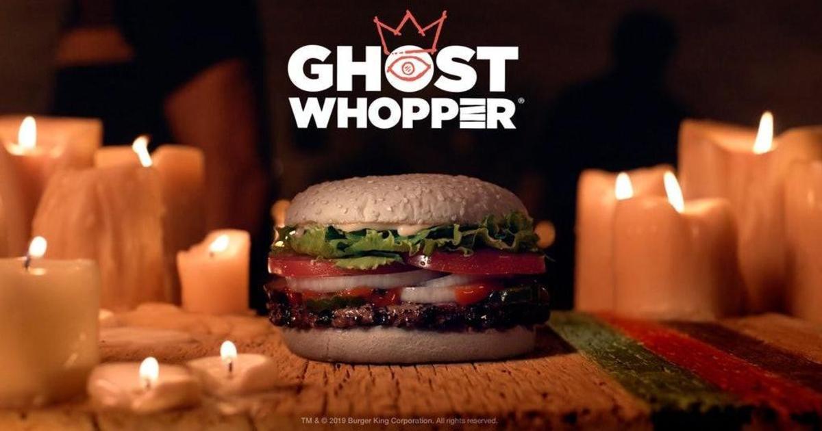 Burger King устроил спиритическую дегустацию новинки в честь Хэллоуина