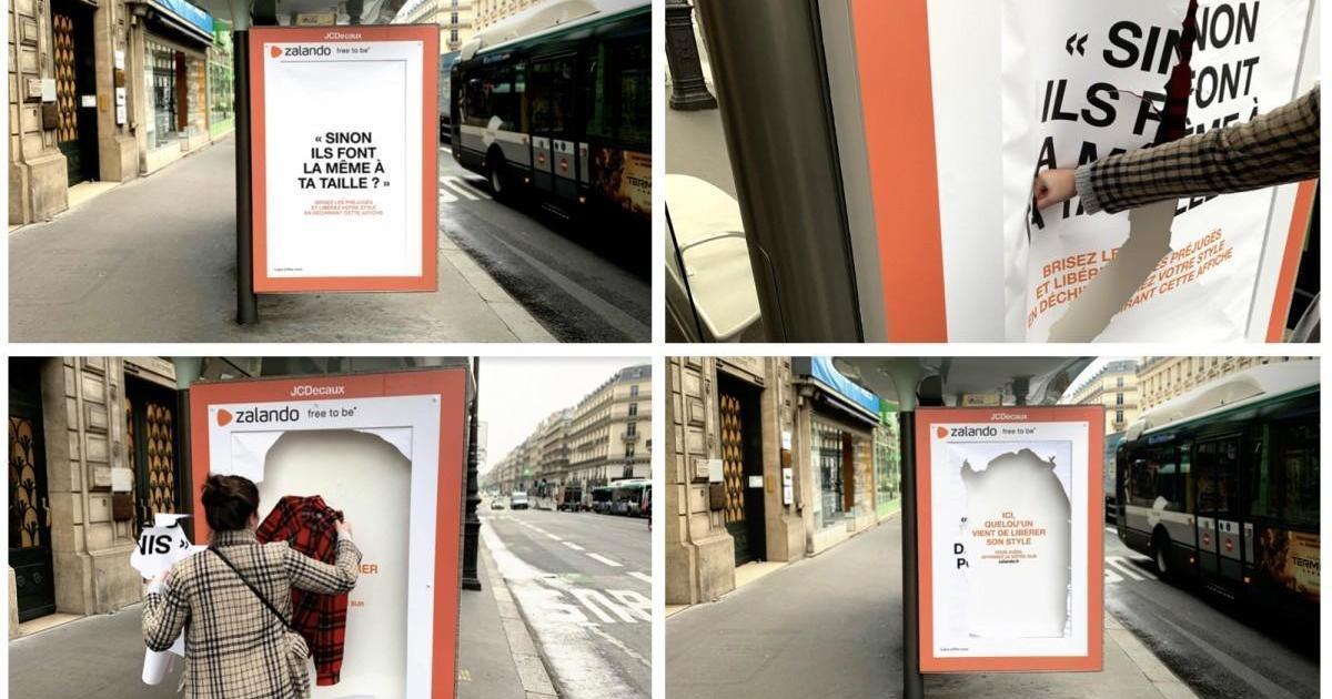Модный бренд призвал парижан порвать постеры в защиту собственного стиля одежды