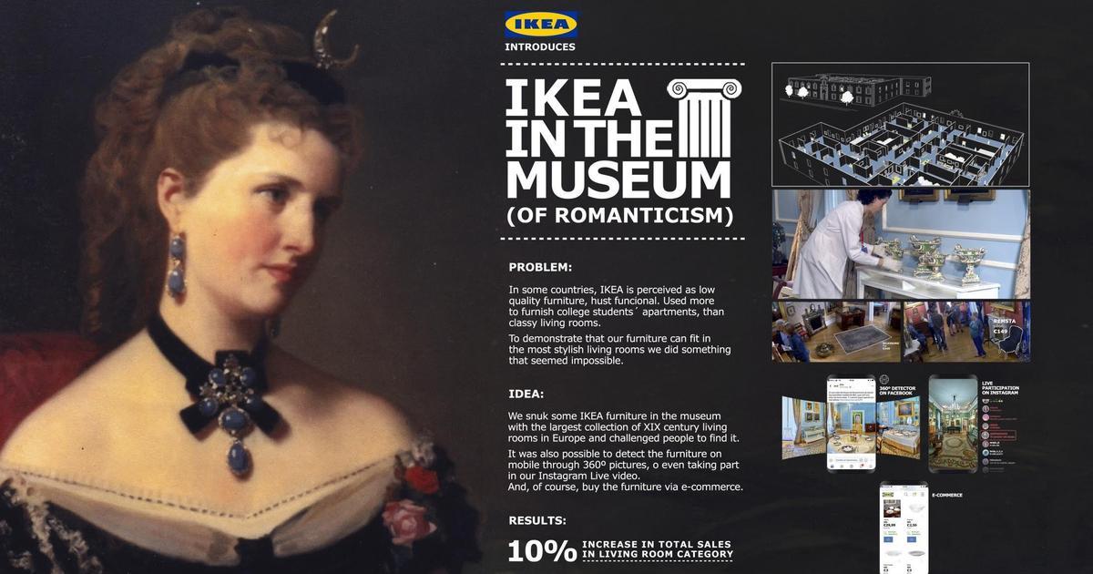 IKEA «спрятала» мебель для гостиных в музей романтизма в Мадриде