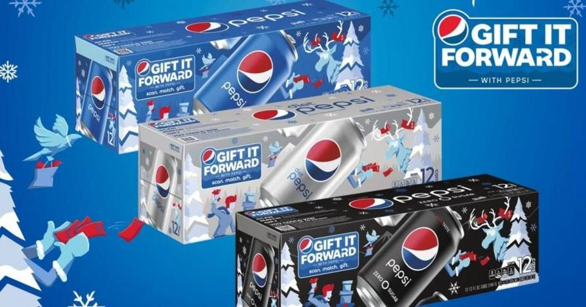 Рождественские скретч-карты Pepsi заставят подарить выигрыш друзьям или родным