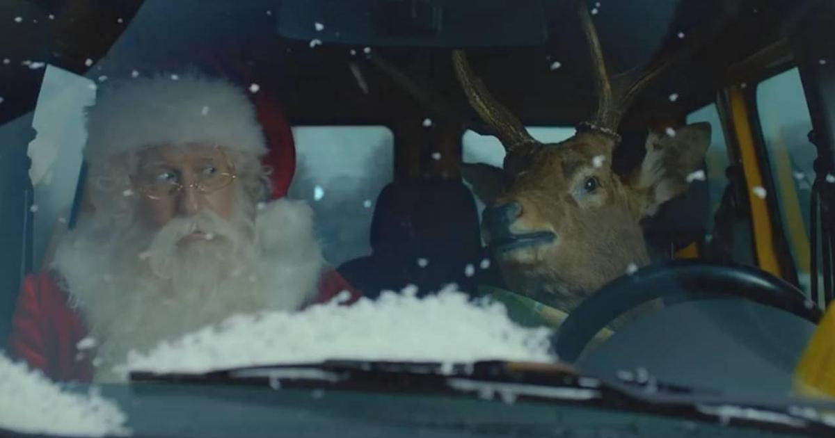 Санта пересел на такси Bolt в новогодней кампании