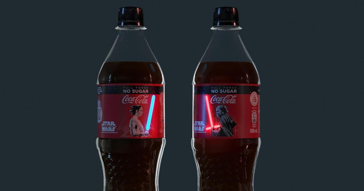 Coca-Cola выпустила бутылки со светящимися световыми мечами из «Звездных войн»