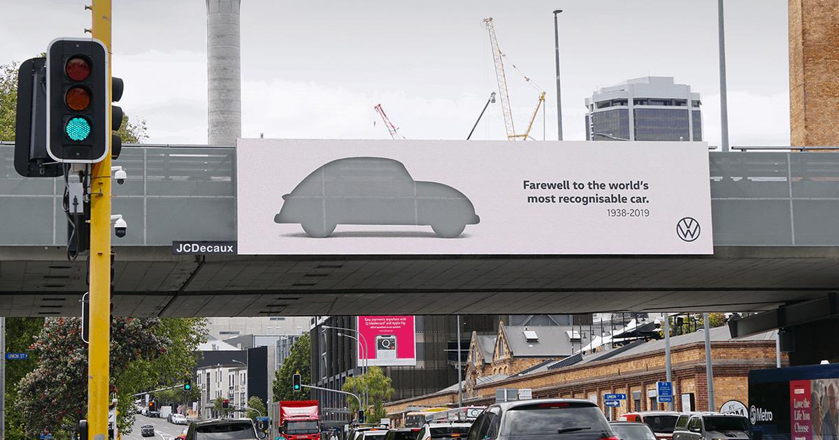 Volkswagen Beetle вырезали из рекламы в прощальной кампании