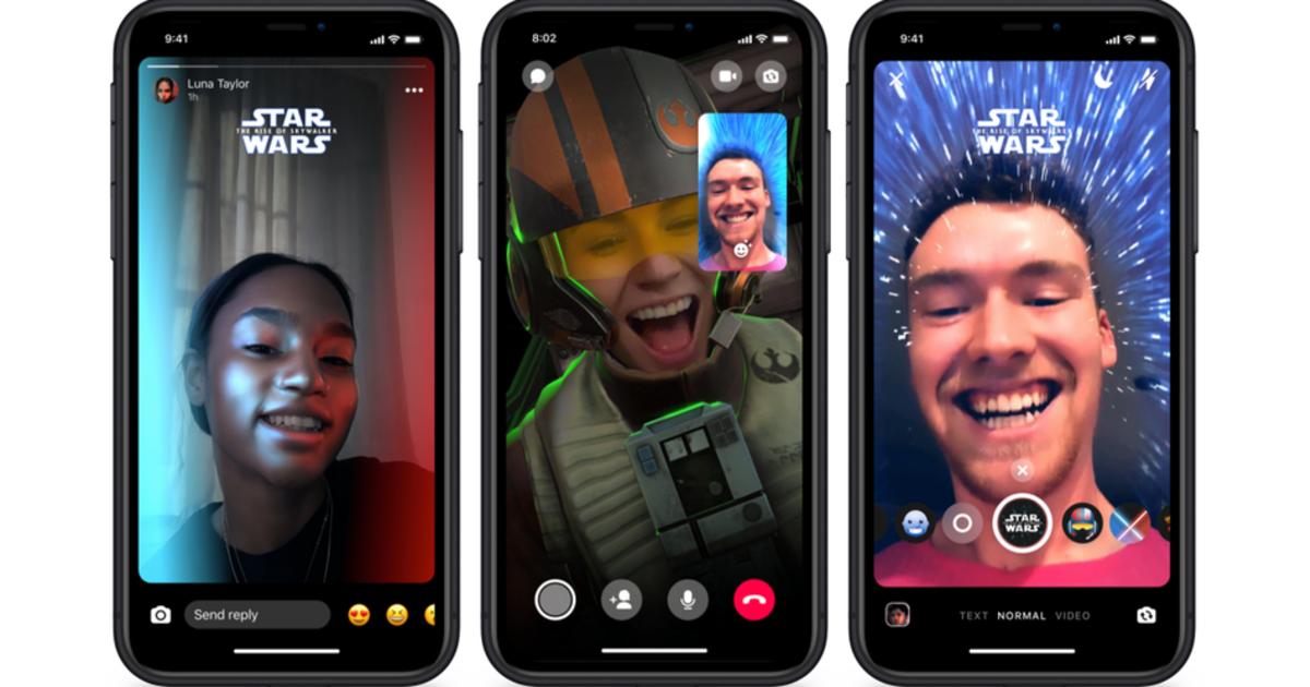 В Facebook Messenger появились AR-эффекты, стикеры в честь «Звёздных войн»