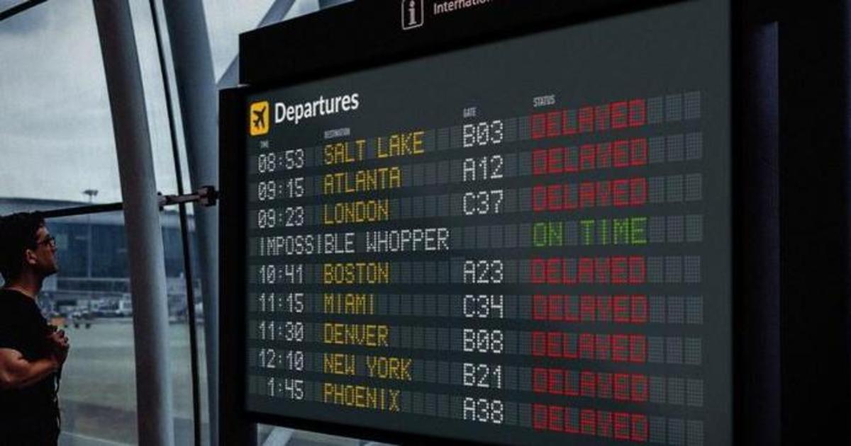 Burger King раздаст вопперы пассажирам, чьи рейсы будут задержаны на праздники