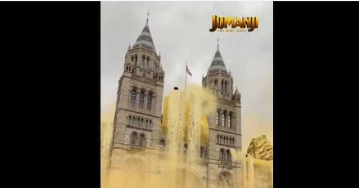 Sony «оживила» Музей естествознания в Лондоне к выходу новой части фильма «Джуманджи»