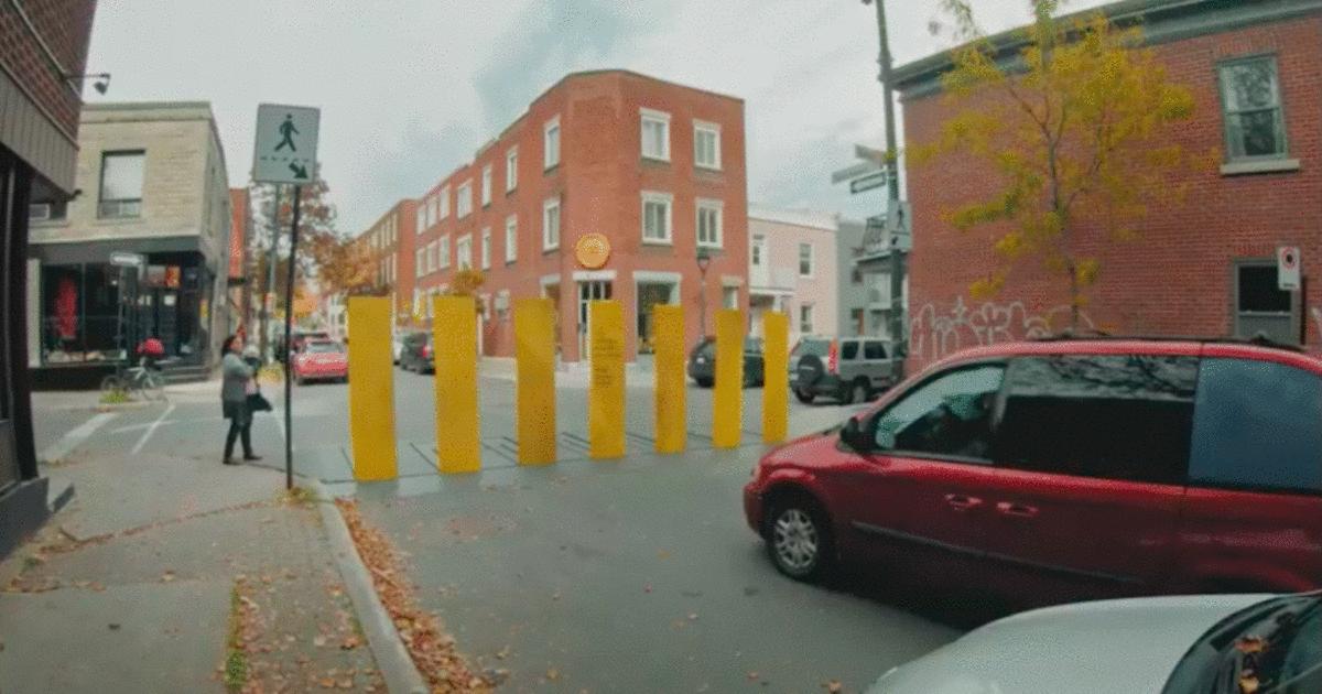 Ambient кампания заставила водителей Квебека пропускать пешеходов на переходах