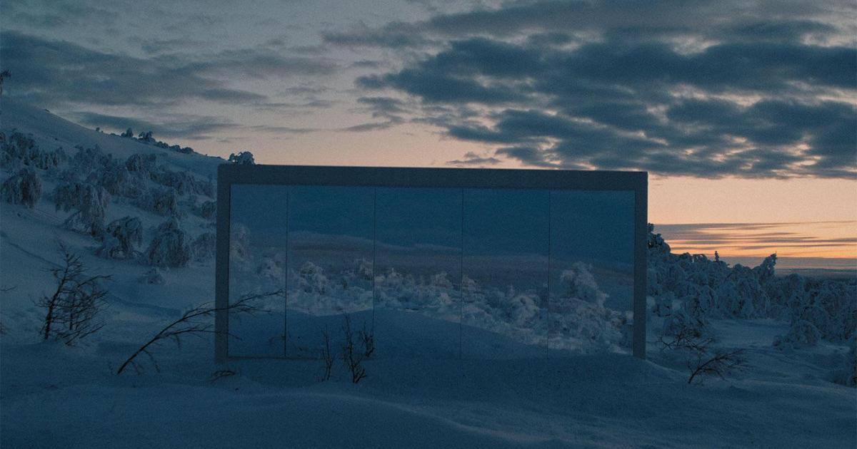Volkswagen спрятал шоурум в снегах Швеции