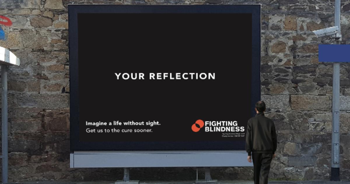 Наружная реклама призвала представить жизнь без зрения