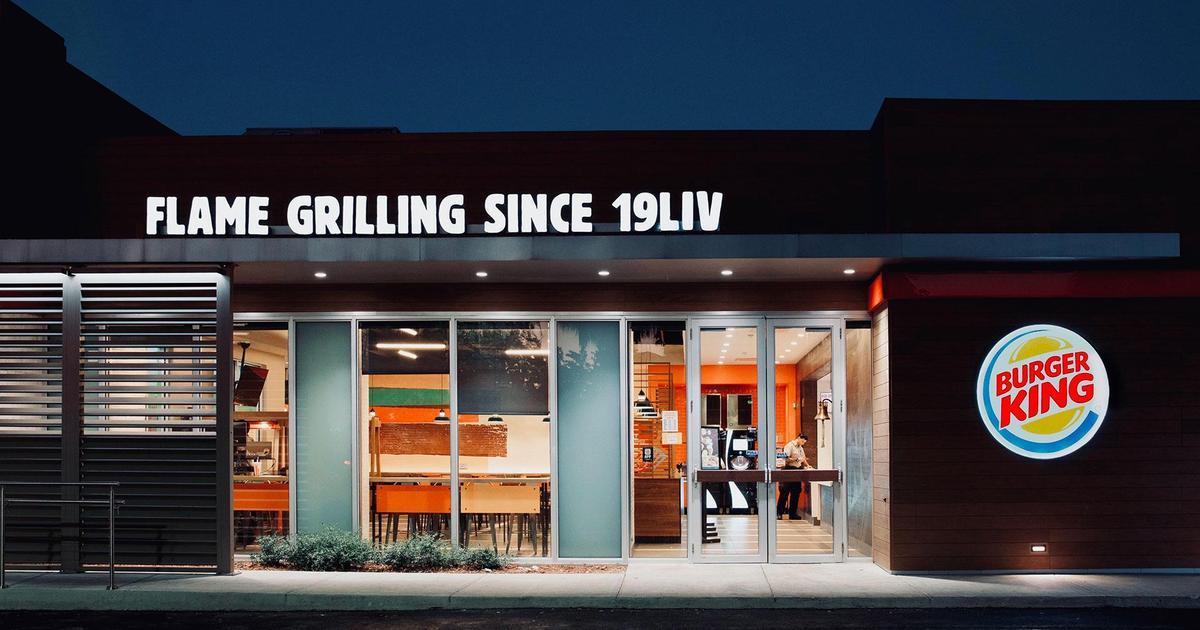 Burger King изменил вывески на ресторанах в честь Super Bowl