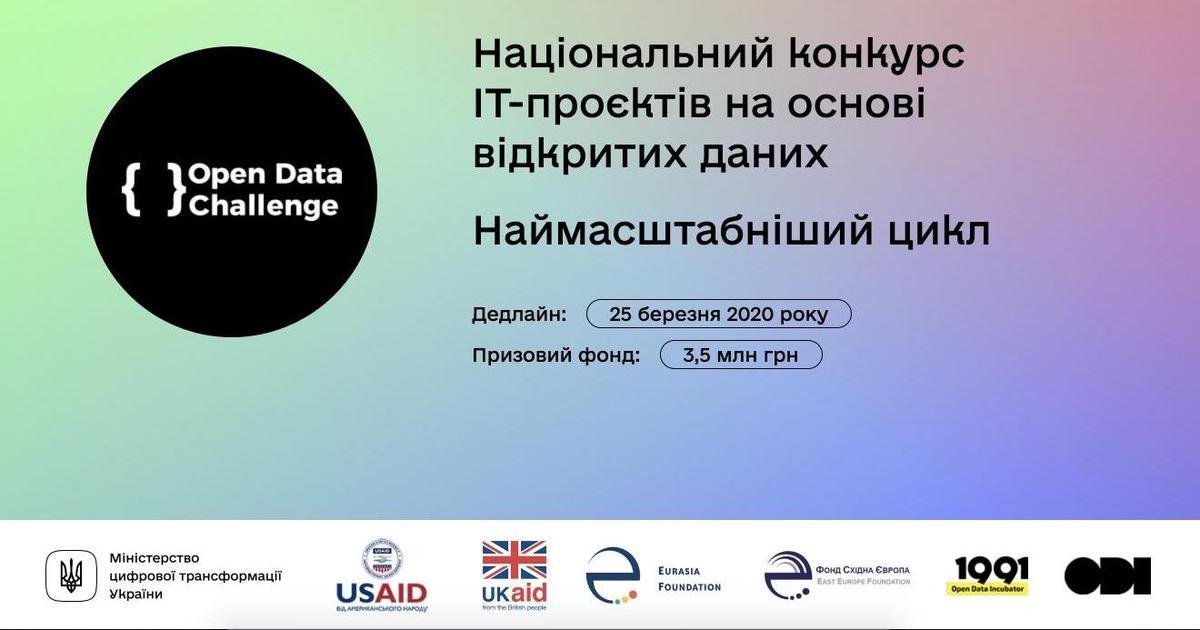 В Україні стартував конкурс ІТ-проєктів на основі відкритих даних
