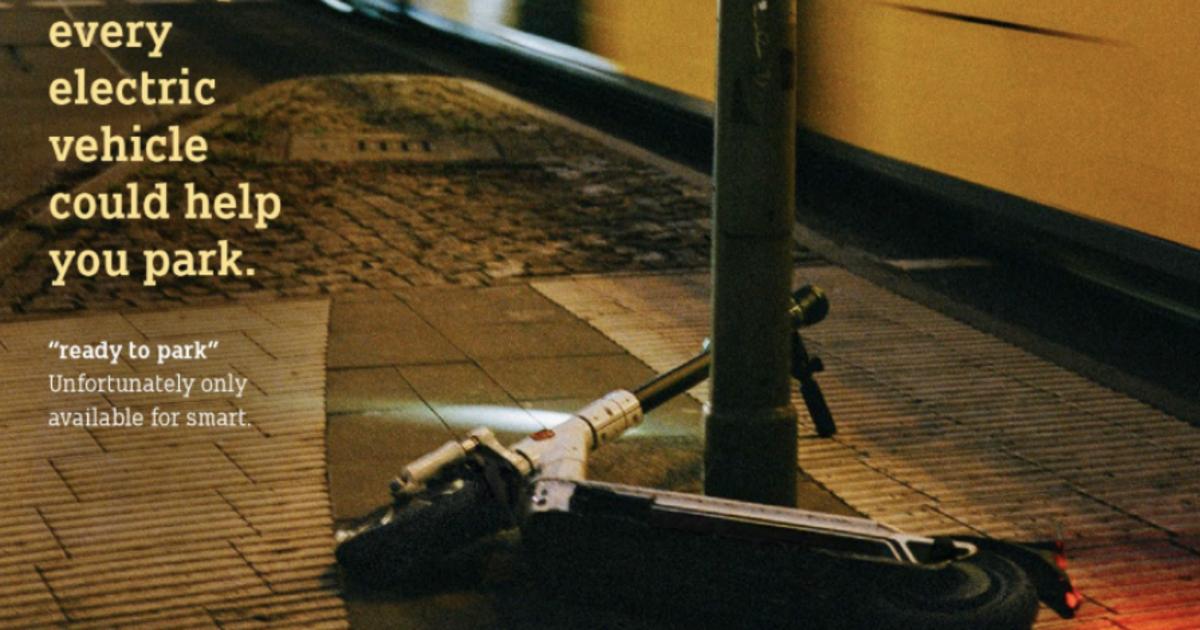 Smart высмеял плохую парковку скутеров в Германии