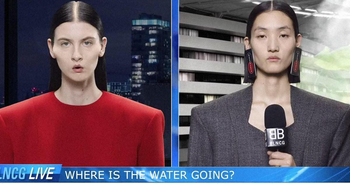 Balenciaga представила выпуск новостей вместо рекламной кампании