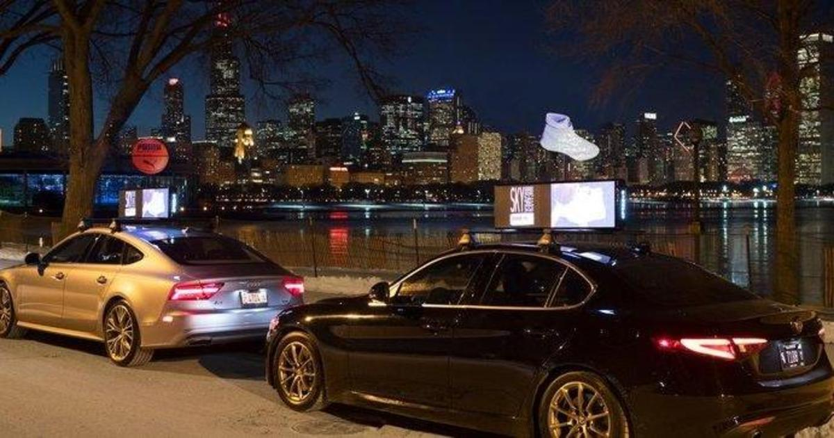 Puma разместила голографическую рекламу на крышах автомобилей