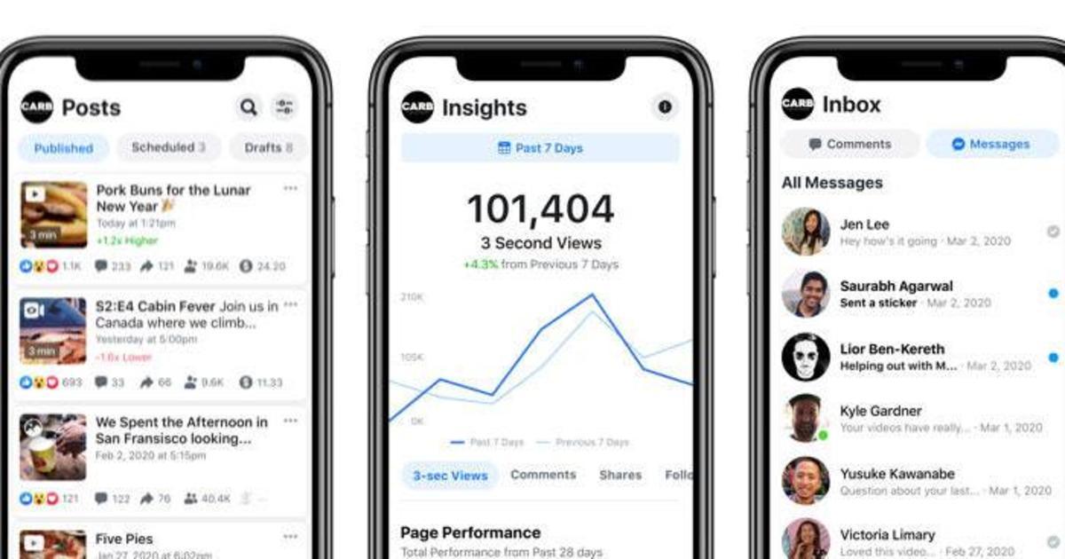 Facebook запустил новое приложение для Creator Studio
