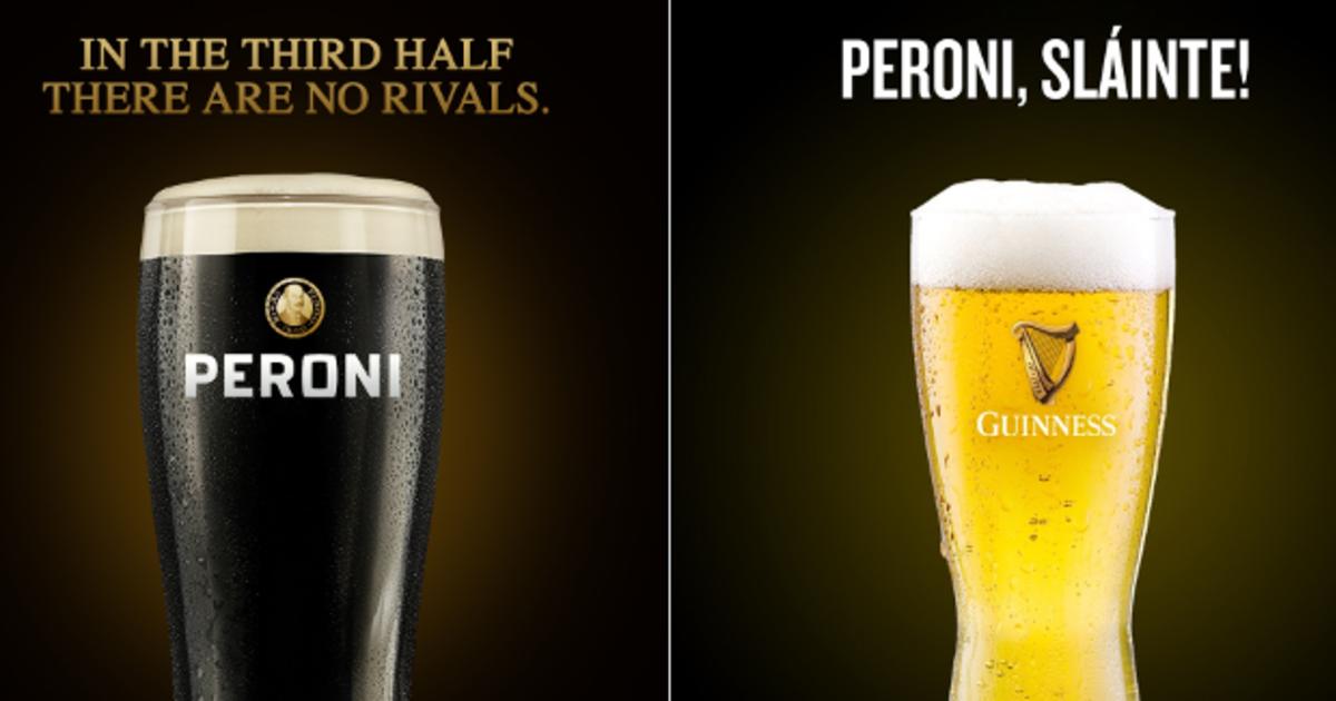 Два пивных бренда обменялись бокалами, воспев спортивную честь в регби