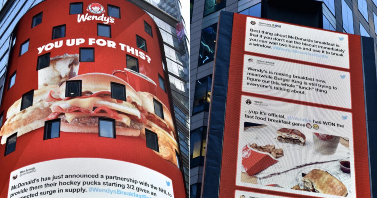Wendy's потроллила McDonald's при запуске собственного меню для завтрака