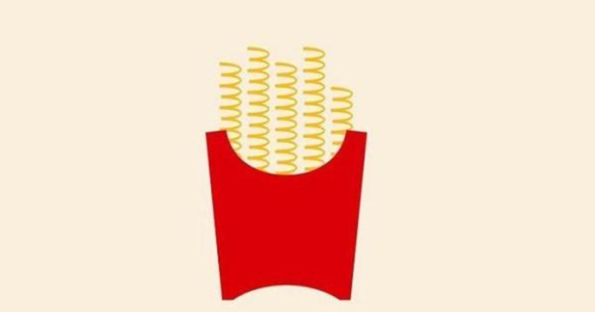 McDonald's трансформировал логотип во фри в минималистской кампании