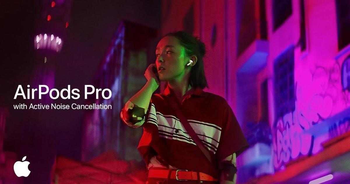 Apple демонстрирует эффект режима активного шумоподавления Airpods Pro