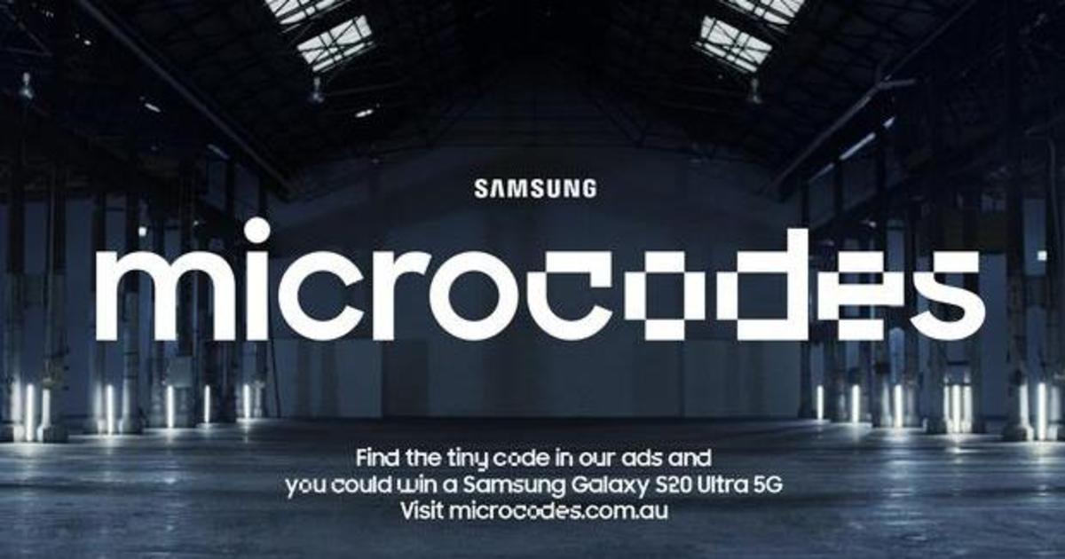 Samsung спрятал коды в рекламе в рамках запуска Galaxy S20 в Астралии