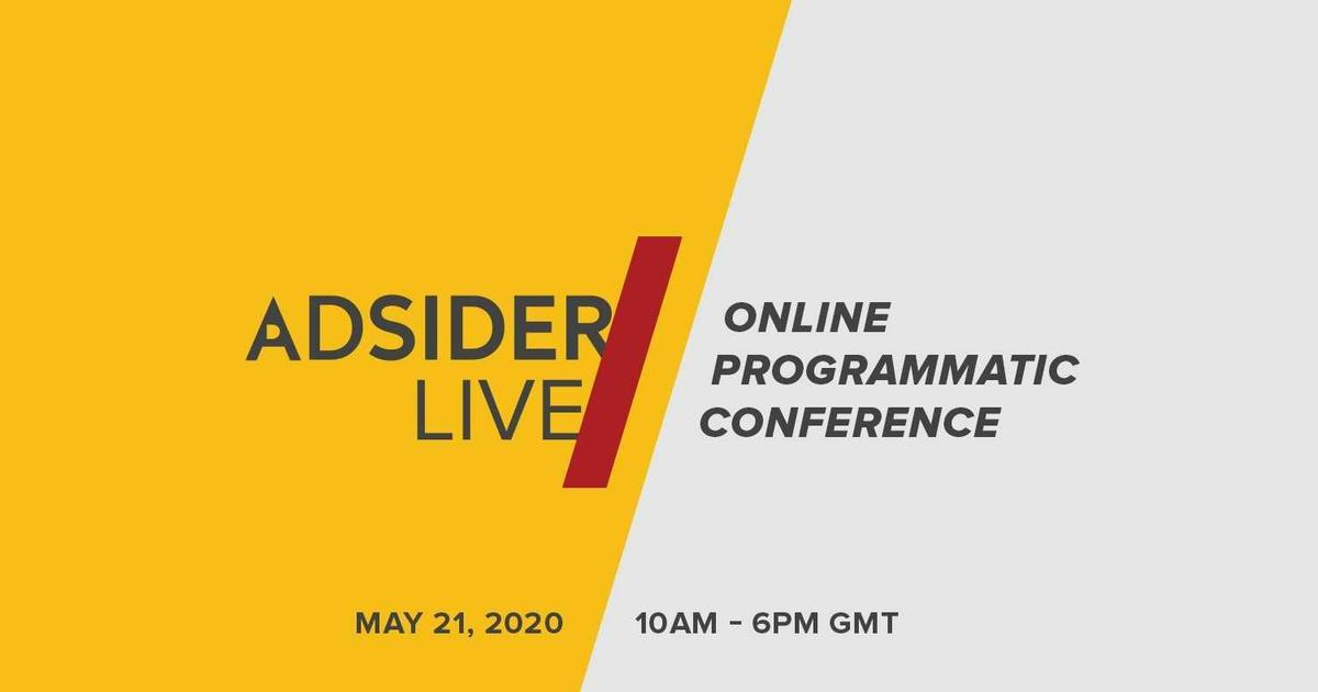 Конференцию по цифровой рекламе Adsider Conference проведут в онлайне