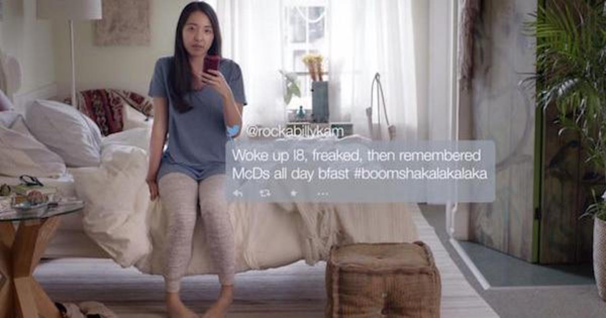 McDonald's встроил реальные твиты и посты фанатов в рекламные ролики.
