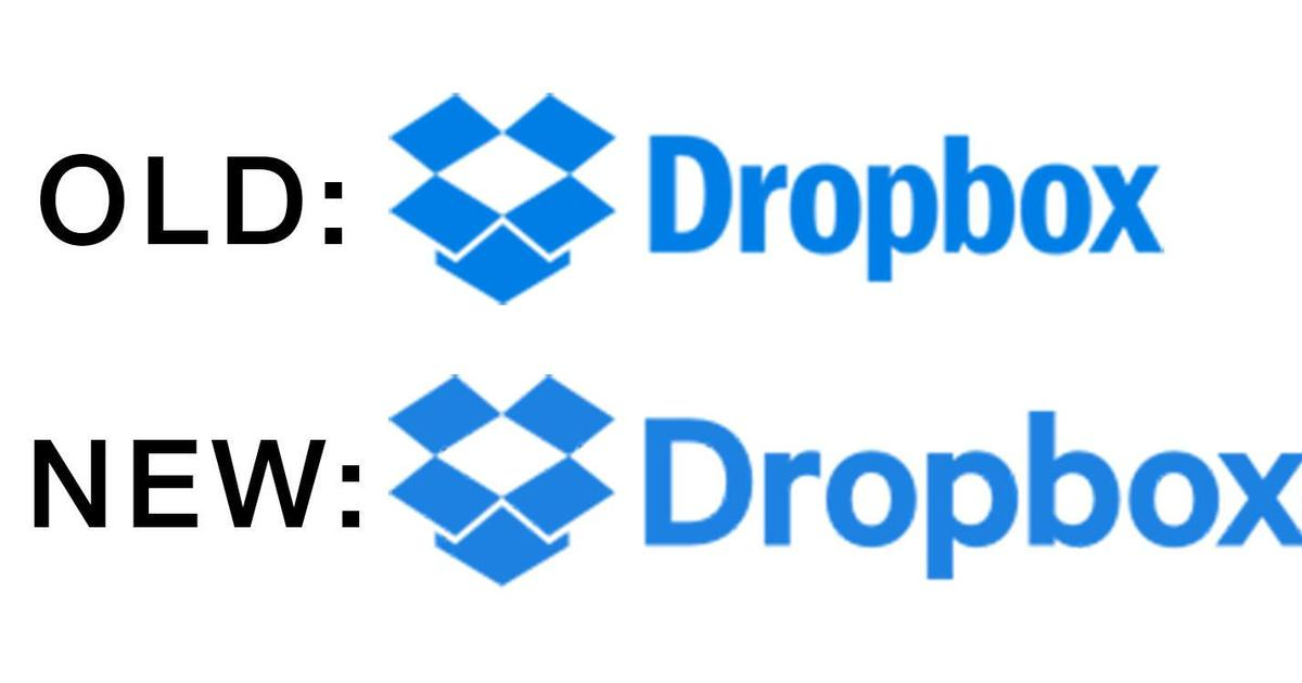 Dropbox незаметно изменил логотип.